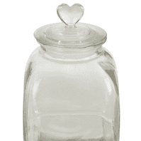 Loves Me Small Glass Storage Jar   Funky Chunky Furniture